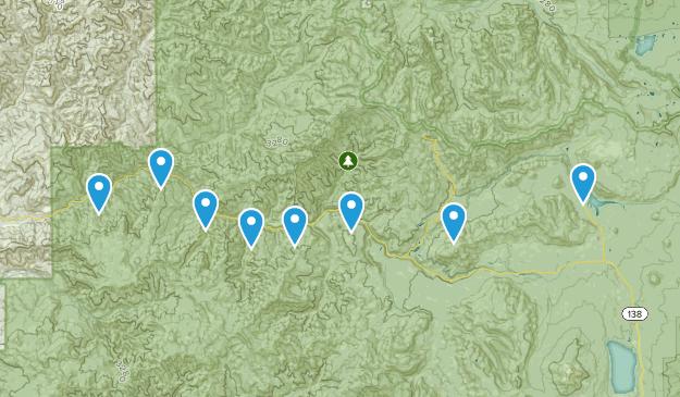 Idleyld Park, Oregon Mountain Biking Map