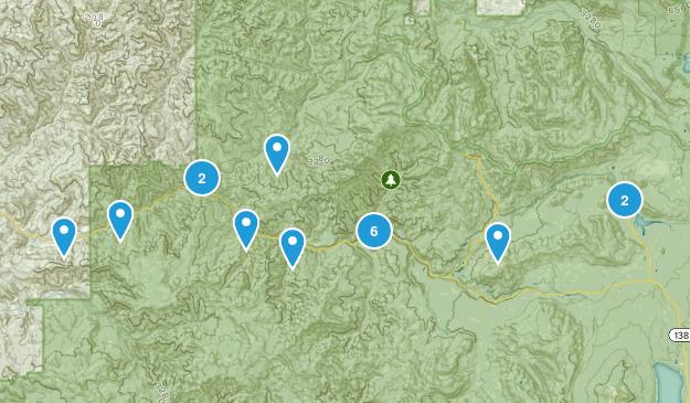Idleyld Park, Oregon River Map