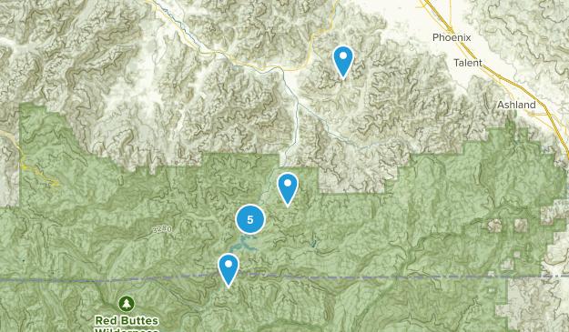Jacksonville, Oregon Mountain Biking Map