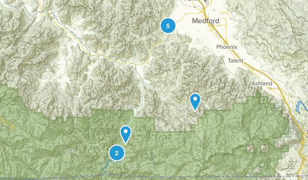 Jacksonville, Oregon Trail Running Map
