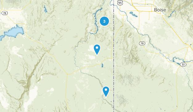 Jordan Valley, Oregon Camping Map