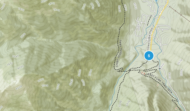 Joseph, Oregon Camping Map