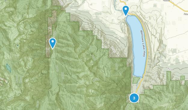 Joseph, Oregon Trail Running Map