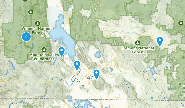 Klamath Falls, Oregon Mountain Biking Map