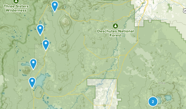 La Pine, Oregon Backpacking Map