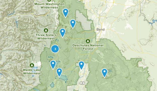 La Pine, Oregon Camping Map