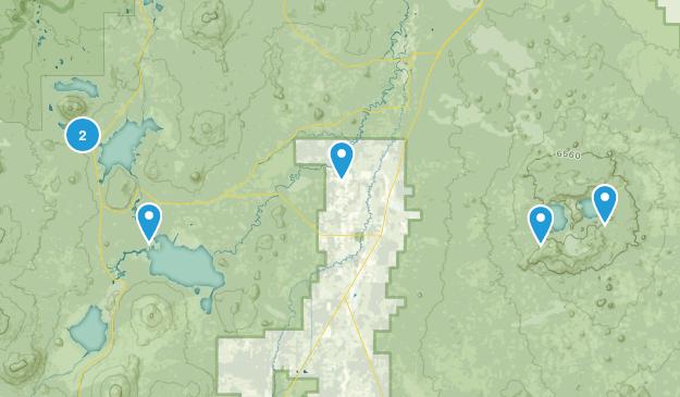 La Pine, Oregon Fishing Map