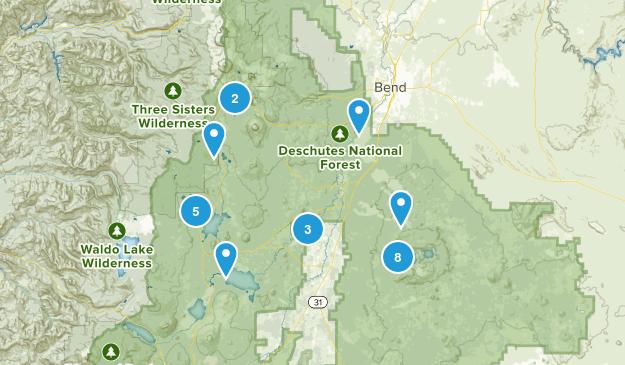 La Pine, Oregon Forest Map