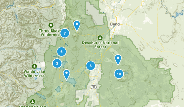 La Pine, Oregon Hiking Map