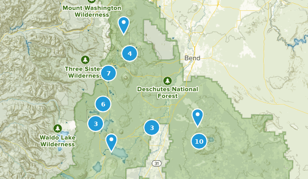 La Pine, Oregon Hiking Map