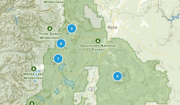 La Pine, Oregon Lake Map