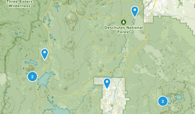 La Pine, Oregon Mountain Biking Map