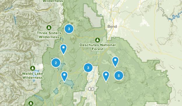 La Pine, Oregon Nature Trips Map