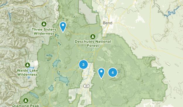 La Pine, Oregon River Map