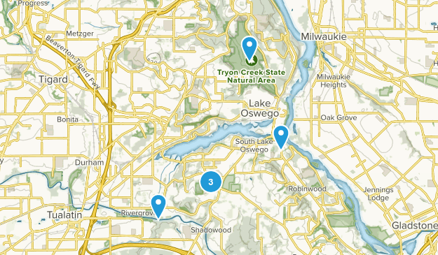 Lake Oswego, Oregon Nature Trips Map