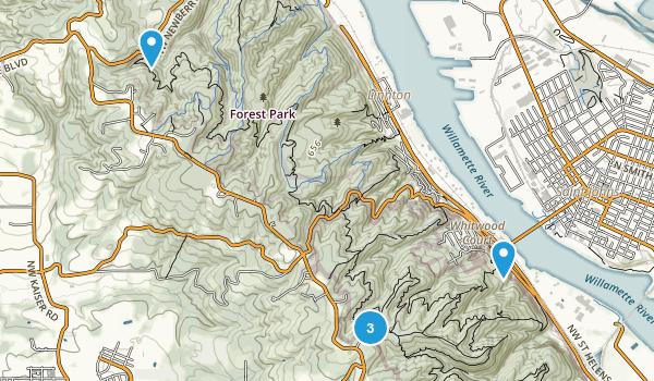 Linnton, Oregon Forest Map