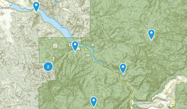Lowell, Oregon Hiking Map