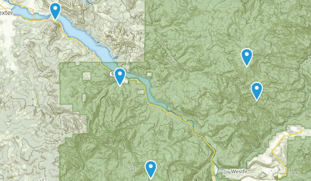 Lowell, Oregon Mountain Biking Map