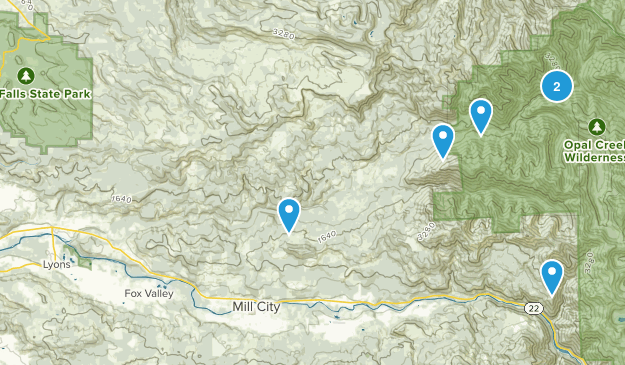 Lyons, Oregon Hiking Map