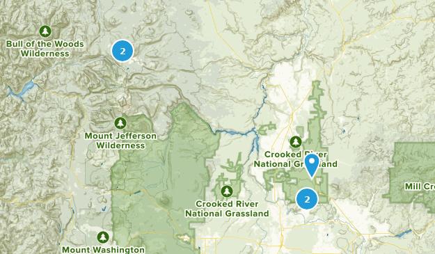 Madras, Oregon Hiking Map