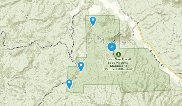 Mitchell, Oregon Hiking Map
