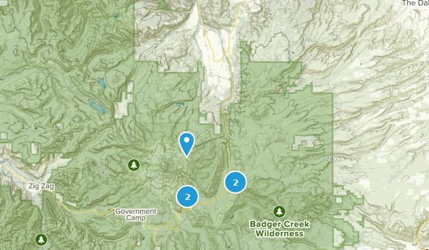 Mount Hood Parkdale, Oregon Hiking Map