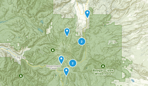 Mt Hood, Oregon Snowshoeing Map