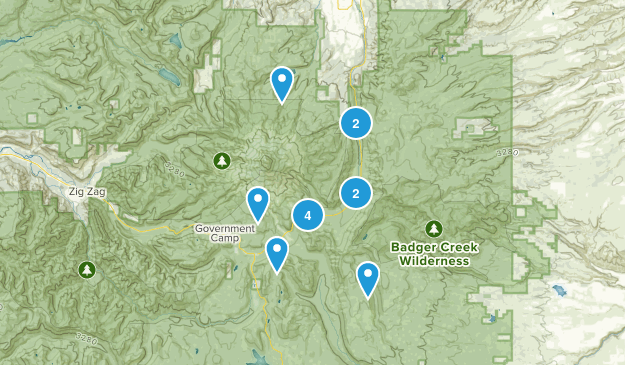 Mt Hood, Oregon Wildlife Map