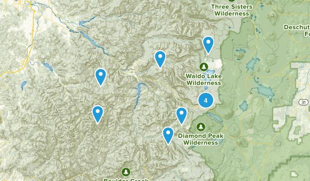 Oakridge, Oregon Birding Map