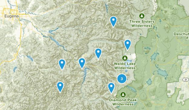 Oakridge, Oregon Nature Trips Map