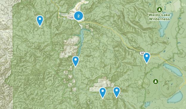 Oakridge, Oregon River Map