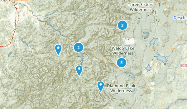 Oakridge, Oregon Wildlife Map