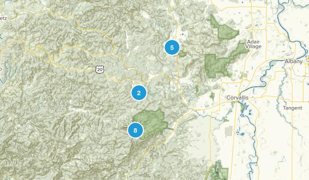 Philomath, Oregon Hiking Map