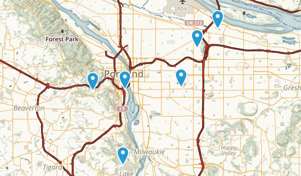 Portland Usa Map MAP Portland Maps And Orientation Oregon Or USA - Map of us oregon