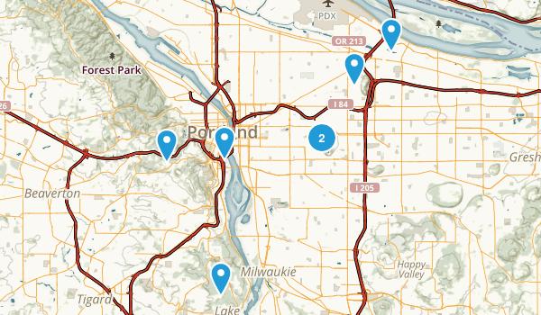 Portland, Oregon Wheelchair Friendly Map