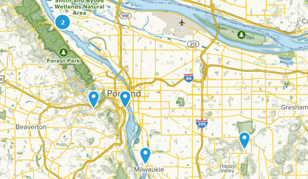 Portland, Oregon City Walk Map