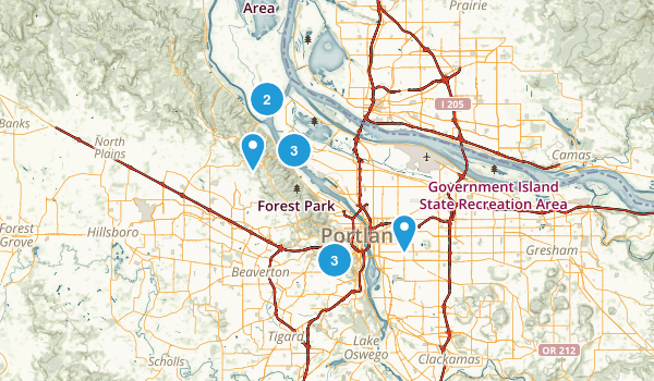 Portland, Oregon Dog Friendly Map