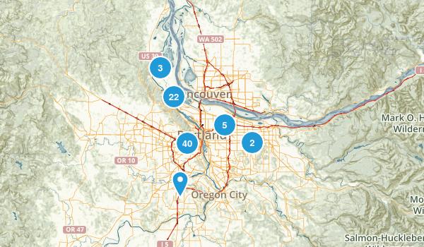 Portland, Oregon Dogs On Leash Map