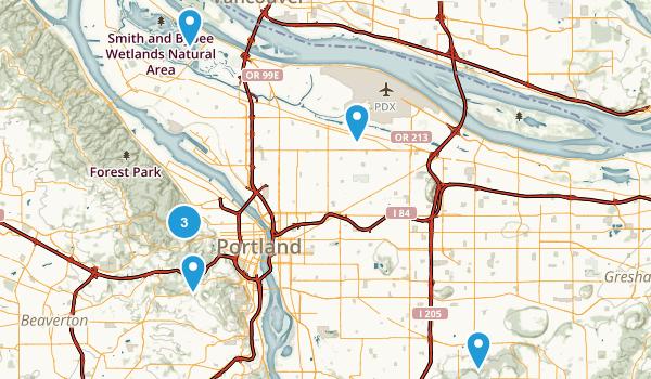 Portland, Oregon No Dogs Map