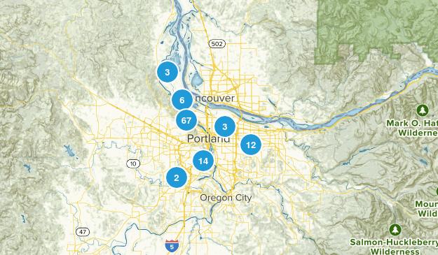 Portland, Oregon Hiking Map