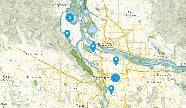 Portland, Oregon Lake Map