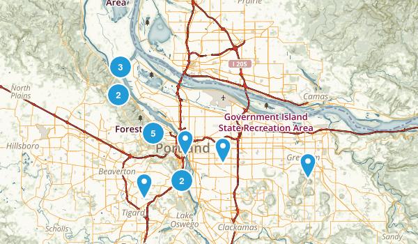 Portland, Oregon Mountain Biking Map