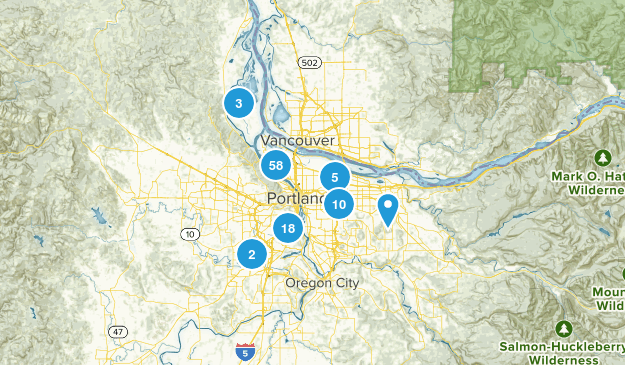 Portland, Oregon Walking Map
