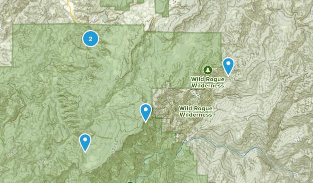 Powers, Oregon Hiking Map