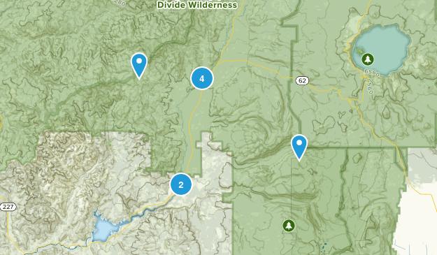 Prospect, Oregon Forest Map