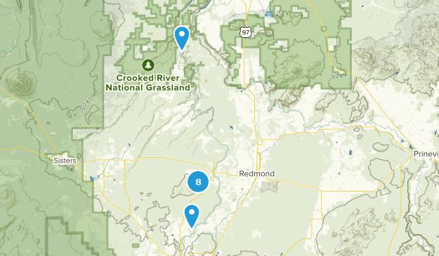 Redmond, Oregon Hiking Map