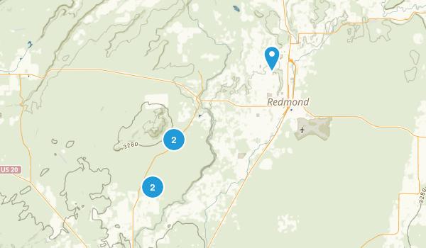 Redmond, Oregon Nature Trips Map