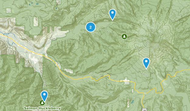 Rhododendron, Oregon River Map