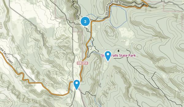 Silverton, Oregon Nature Trips Map