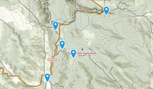 Silverton, Oregon Trail Running Map
